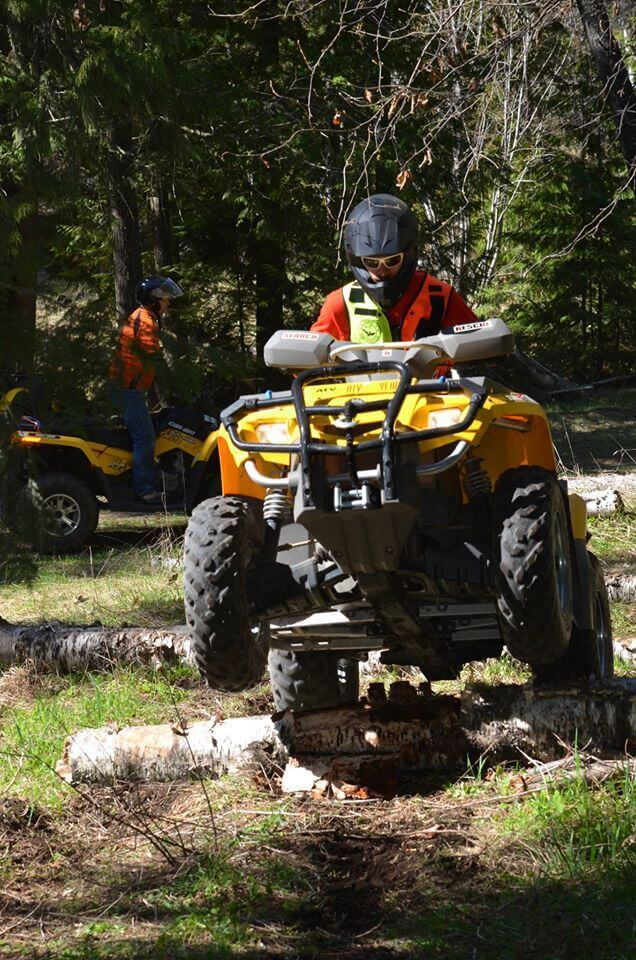 ATV training along Noble Canyon road