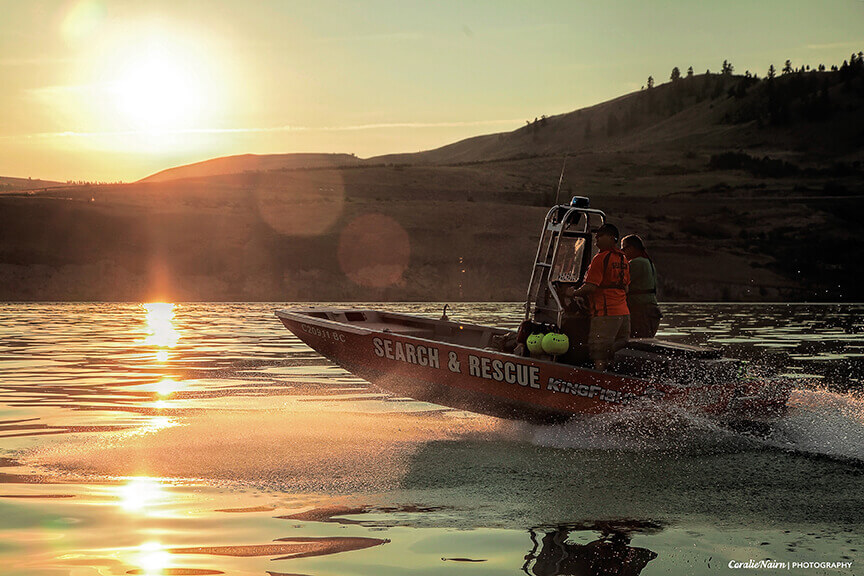 Lake boat operations and rescue techniques training
